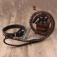 Top Chất Lượng Da cho chó 13 ~ 50 kg Pet Dog Collar Leash thời trang Thiết Kế Dog Leash Dây Đeo Sợi Dây Traction Pet Harness Leash chì