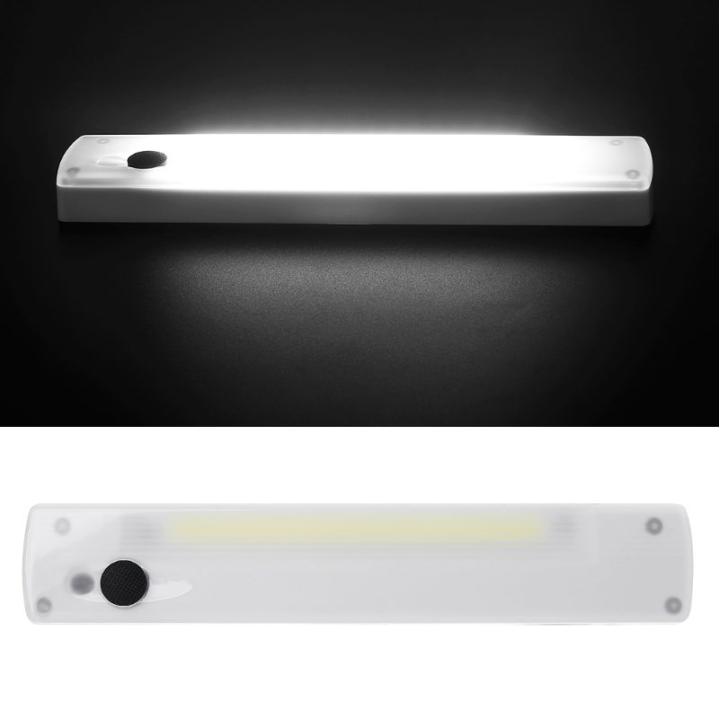 Gentle New Portable Cob Nightlight Wireless Led Switch Closet Light Cabinet Porch Lamp With Magnetic Strip 4.5v 2.5w White Night Light Bright In Colour