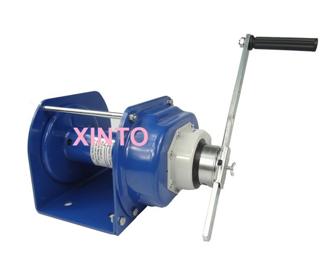 US $326 08  2000KG Industrial heavy duty hand winch with brake, lifting  pulling manual windlass, boat automotive trailer Tire Repair Tools-in Tire