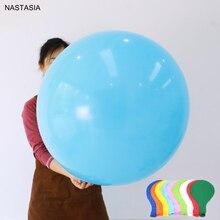 NASTASIA Globo de látex redondo multicolor, 10 unids/lote, globos de decoración para fiesta de cumpleaños y boda de 24 pulgadas