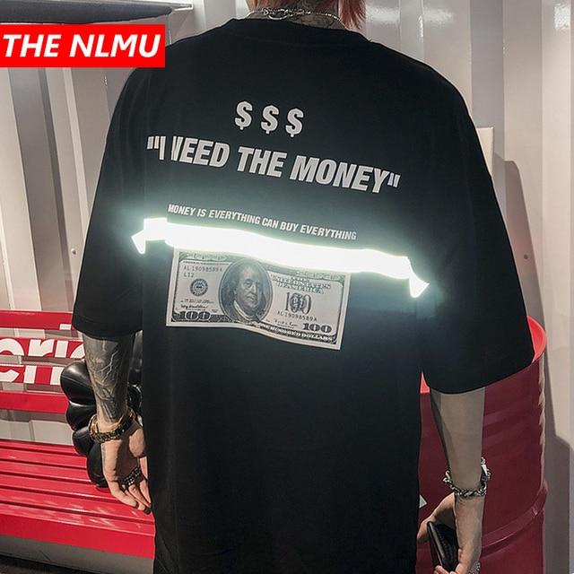 """גברים tshirts ארה""""ב דולר רעיוני רצועת מריה הדפסת היפ הופ חולצות גברים Streetwear 2019 אופנה קיץ אביב חולצות Tees HS76"""