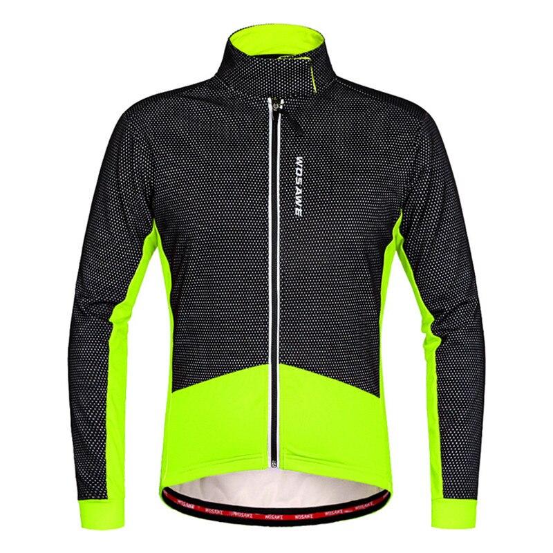 防風サイクリングジャケット男性女性厚みの冬春自転車服緑赤 windstopper 風コート熱ライディングジャケット  グループ上の スポーツ & エンターテイメント からの サイクリングジャケット の中 2