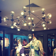 Джейсон миллер MODO волшебные бобы ДНК Люстры из кованого железа промышленного Кафе проект Nordic Арт-Деко стеклянный шар люстра 10/15 голов