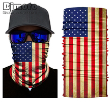 Bjmoto Magic Ghost Skull Fire US America USA Mexico Germany Scarf Neck Headwear Face Mask Shield Head Bandana Headband Neckgator 2016 new fashion women mens multifunctional headwear skull bandana helmet neck face head mask halloween turban