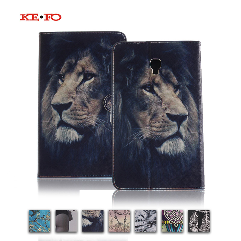 KeFo For Samsung tab A 8.0 2017 t385 Animal Prints Leather Case Cover For Samsung Galaxy Tab A 8.0 T380 T385 2017 SM-t385