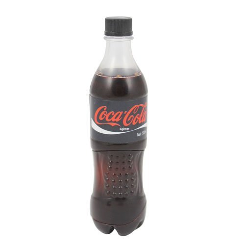 Free Shipping Black Cola Bottle Shape Butane Jet Flame Lighter