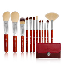 Fashion new recommended 12 packaging makeup brush set wooden handle high-end portable beauty tools hot sale