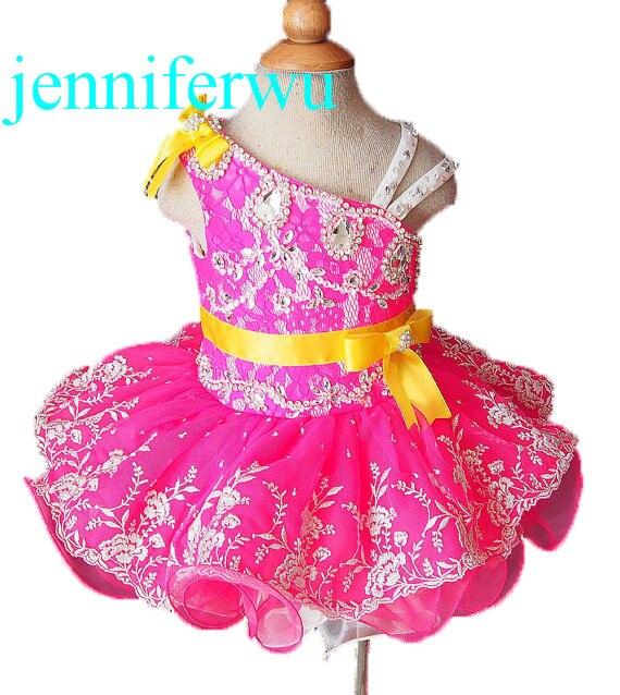 one shoulder  girl  formal dress flower girl dresses  girl party dresses children baby dresses G008-6