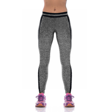 NEW KYK1089 Girl Women Solid Gray 3D Prints High Waist Running Fitness Sport Leggings Jogger Yoga Pants Plus