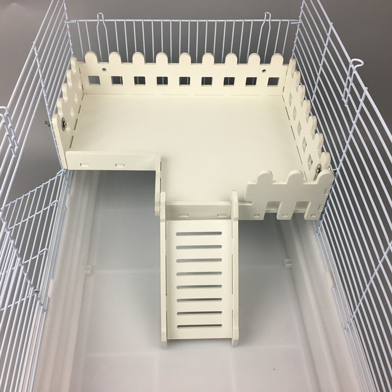 Hamster Ladder Fence Toy Durable Rail Platform Pet Cage Accessories Small Animal Hamster Toy Golden Bear 47 Basic Cage Platform