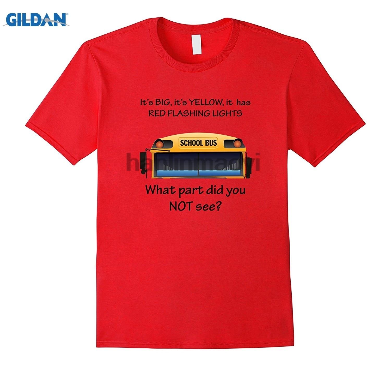 GILDAN School Bus Driver Funny Quote T-Shirt Its Big and Yellow ...