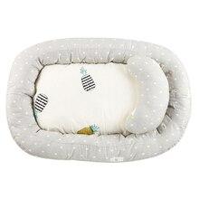 Складная детская кровать ручной работы в скандинавском стиле моющаяся новорожденная дышащая кровать подушка бампер узел детская кроватка декор комнаты J75
