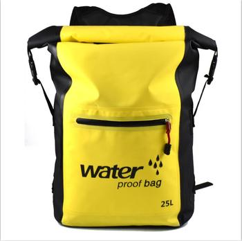 25L Portable Sport Waterproof Dry Bag Sack Swim Storage Rafting Boating Kayaking Canoeing Camping Travel Kits Drift Floating Bag - Yellow