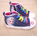 New fashion beauty Children's Shoes Girls Elsa Anna Cartoon Running Sneakers Kids Flat Sneaker  For Girls boots