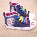 New fashion beauty Children's Shoes Girls Elsa Anna Cartoon Running Sneakers Kids Flat Sneaker  For Girls boots