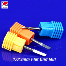 10pcs 3.175*1.0*3mm Single Flute CNC End Mill Router Bits Sharp Straight Milling Cutter Machine Tools
