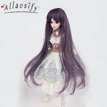 Allaosify длинные прямые BJD парик термостойкие синтетические поддельные волосы куклы