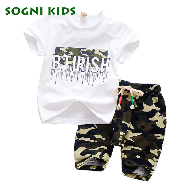 Children's Things for Boy Set Clothes Summer 2018 Child Clothing set Toddler Camouflage for Kids Outfit T shirt Sport Tracksuit camouflage 2pcs newborn baby boy girl clothes set fashion toddler kids long sleeve t shirt tops pant outfit children tracksuit