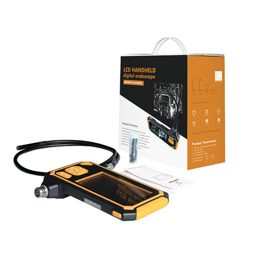 HD 1080P 4.3 Inch Display 8mm Endoscope Car Inspection Camera 5/10M Endoscope 2600mAh Lithium Battery Snake Hard Cam new