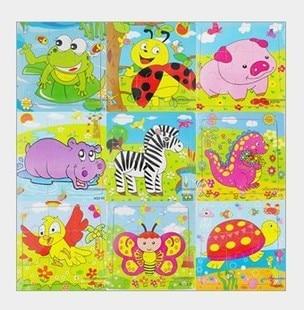 5 шт. деревянный детский образование для младенцев маленьких детей головоломки животных 9 шт. головоломки деревянные детские игрушки
