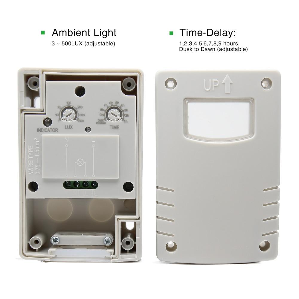 High quality outdoor IP44 220VAC Light control Photo sensor switch ...