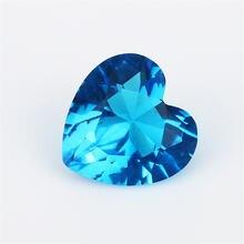 Размер 3x3 ~ 12x12 мм стеклянный камень в форме сердца белый