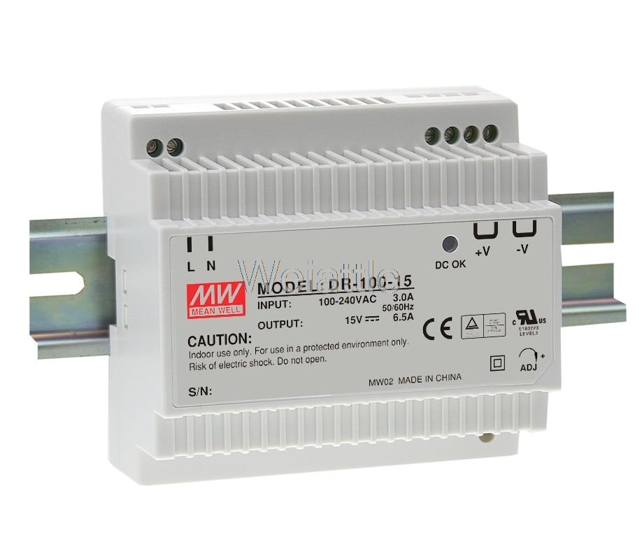 12 V 15 V 24 V moyenne bien original 4.2A 6.5A 7.5A 97.5 W simple sortie industrielle DIN Rail alimentation DR-100-12 DR-100-15 DR-100-24