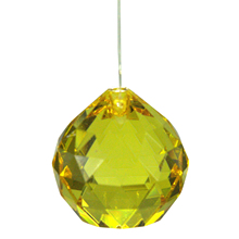 40MM Feng Shui Faceted Decorating Crystal Pendant Ball(Clear)