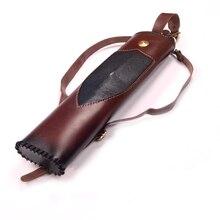 Brown Wonderful Handmade Italian Cow Leather Pearlfish skin Archery Arrows Back Quiver