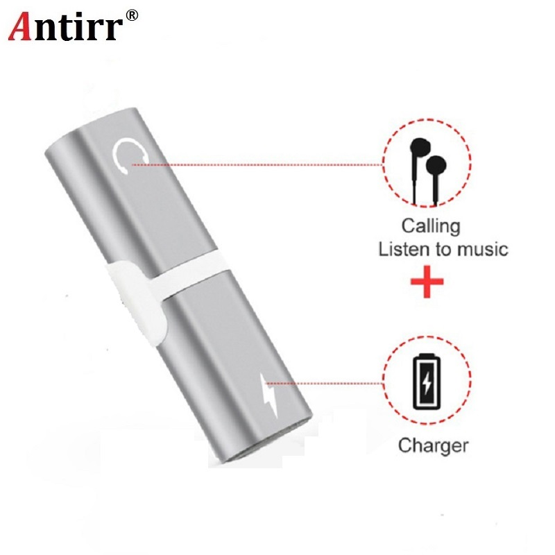 Original Chip 2 in 1 Charger Audio Adapter Cable For iPhone X 7 8 Plus Earphone Headphones Support Micro Calling IOS 11