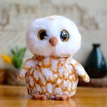 Original Ty Collection Big Eyes Beanie Boos Kids Plush Toys Brown Barn Owl Lovely Baby Gifts Kawaii Cute Stuffed Animals Dolls