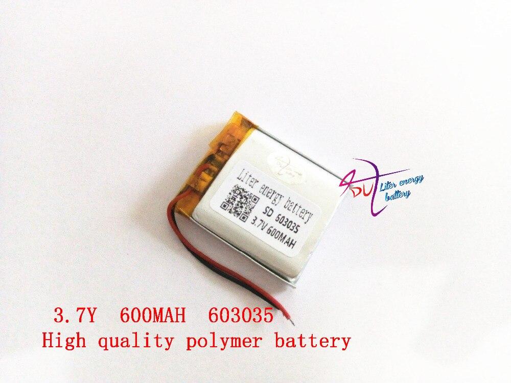 Liter energy battery 3.7V lithium polymer battery 603035 600MAH MP3 MP4 MP5 GPS SD recor ...