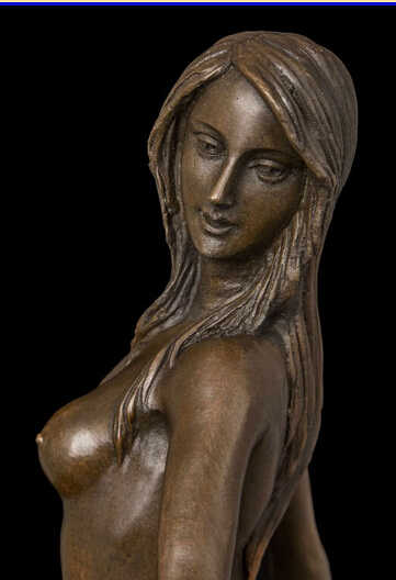 19 Западная Бронза Медь мрамор Ремесло Искусство Скульптура Обнаженная женщина Статуя Статуэтка
