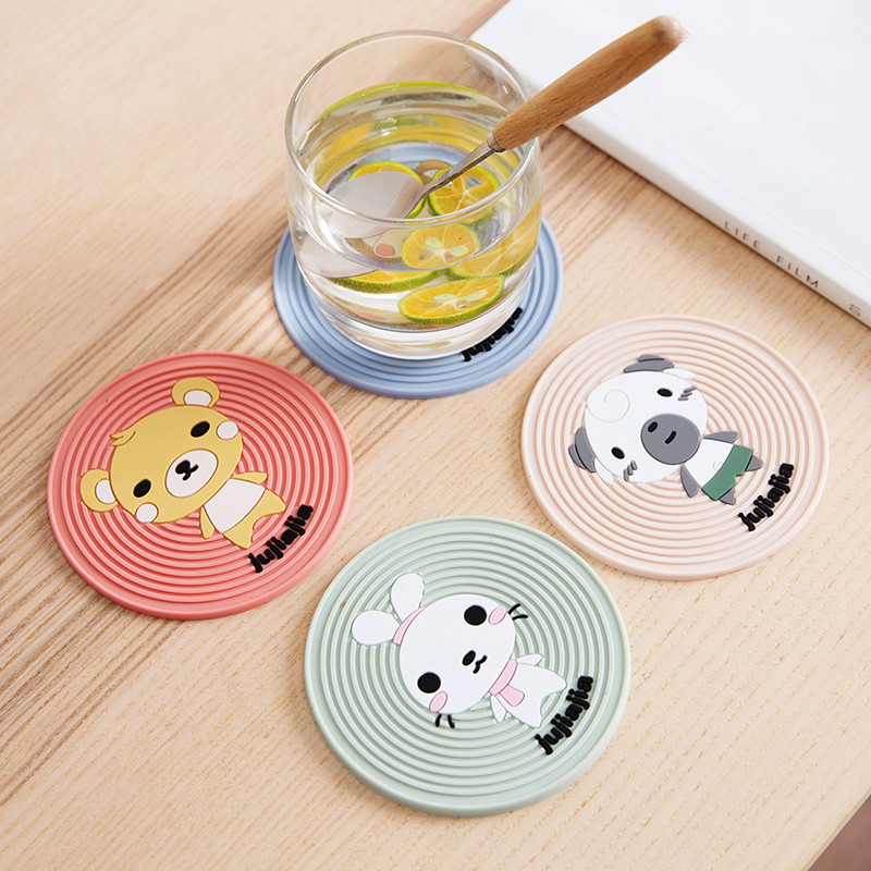 Cute Cartoon Coasters Heat Resistant Table Mats Dining