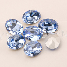 4120 All Sizes Light Sapphire Oval Stones for Needlework Rhinestones Blue Sewing DIY Crystals for Clothes gorgeous artificial crystals rhinestones oval necklace for women