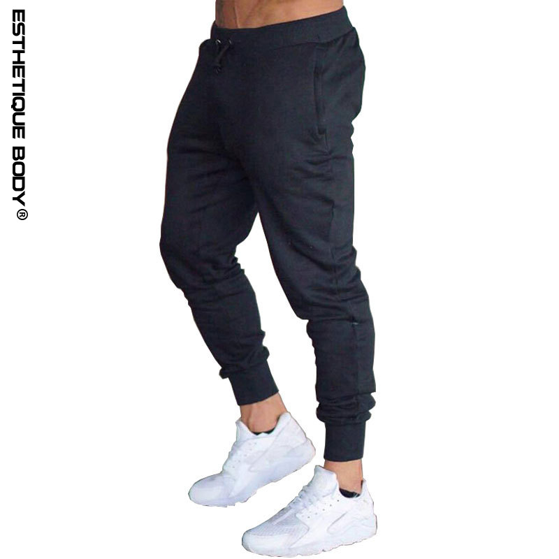 2018 men s trousers solid color sports pants sports training trousers gyms quality running jogging pants
