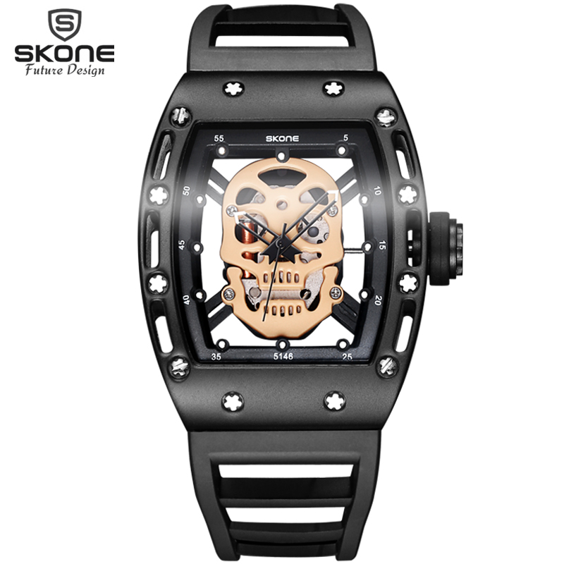 Bermuda 2017 Pirate Captain Skull Quartz Men Watches Brand Men Military Silicone Men Fashion Casual Watch