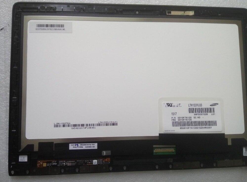 Touch Screen + LCD Display A LED di Montaggio Per lenovo YOGA 3 Pro 1370 Del Computer Portatile 13.3 'LTN133YL03-L01 FRU PN 5D10F76130 3200X1800 40pin