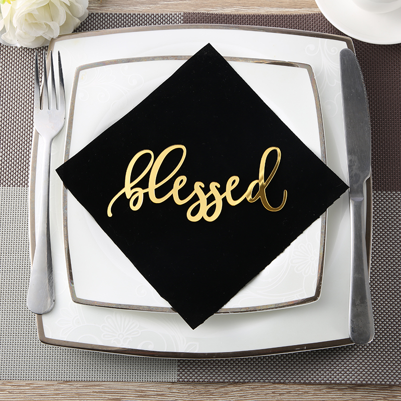 Blessed Place Cards,Blessed sign,Thanksgiving table setting,Holiday Decor Thanksgiving settings,Small Acrylic Sign