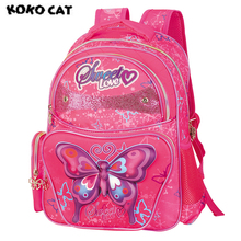 2017 Cute Butterfly Kids Children School Backpack Bags Bookbag Female School Backpacks for Teens Girls Student