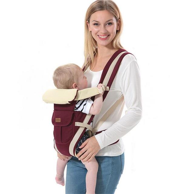 Portador de bebé de Cuatro Posiciones 360 Porta Bebé Ergonómico Mochila Portabebés Tirantes de Los Niños Para 0-24 M Baby Care