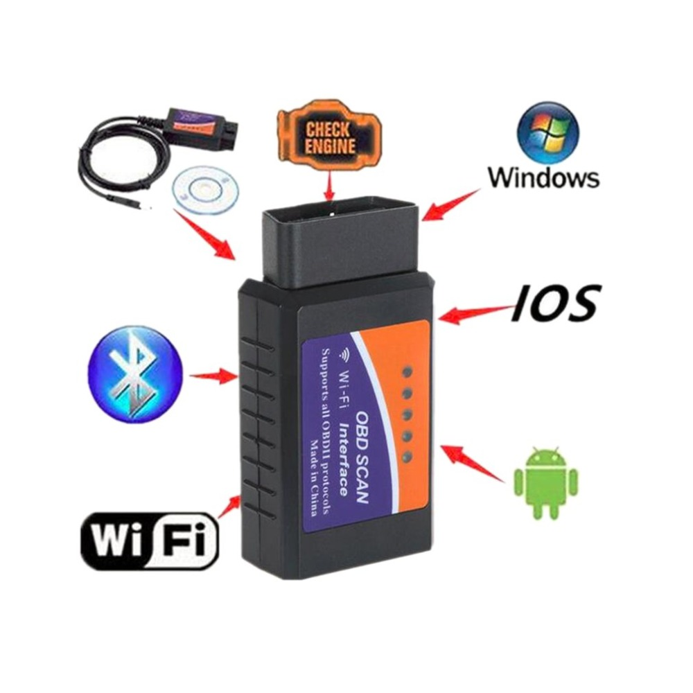 Auto WIFI OBD 2 Drahtlose Auto Diagnose Scanner Adapter Überprüfen Motor Diagnose-Tool für iOS für iPhone für Andorid Dropshipping