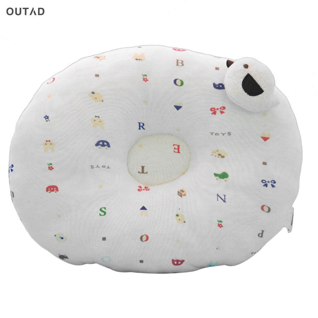 OUTAD Baby Shaping Pillow To Finalize Baby Design Pillow Correct The Flat Head Baby Care Washable Infant Soft Feeding Pillow New