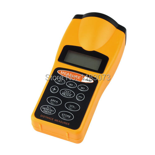 Handheld Ultrasonic Tape Measure Distance Meter Laser Pointer