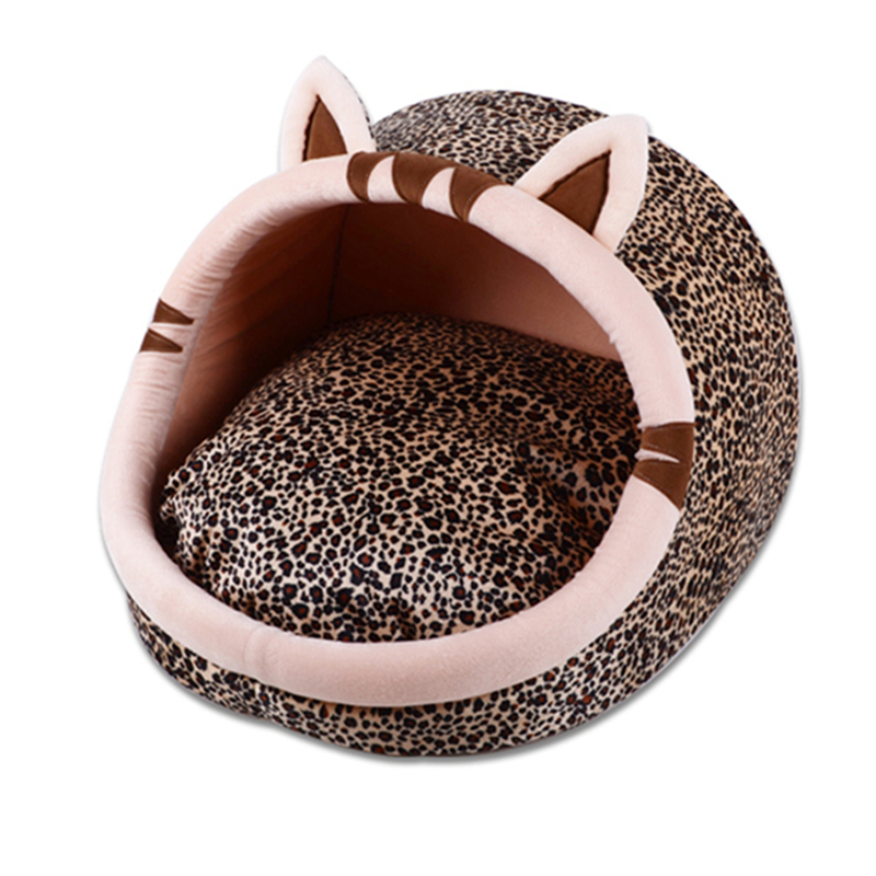 Kartun Binatang Anjing Katil Rumah Rumah bentuk rumah Winter Warm Cat Bed Sponge Padded Puppy Sofa For Small Medium Large Pet
