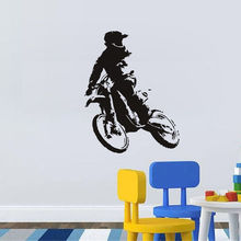 Removable Motor Cross Vinyl Wall Decal Self Adhesive Motorbike Home Art Sticker Children Boys Room Decor Wall Sticker W-88 vodool creative wall blackboard sticker vinyl removable self adhesive children early education decor stationery office supplies