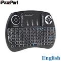 Беспроводная клавиатура iPazzPort  2 4 ГГц  с RGB подсветкой  воздушная мышь с тачпадом для ТВ-приставки Android  мини-ПК  ноутбука