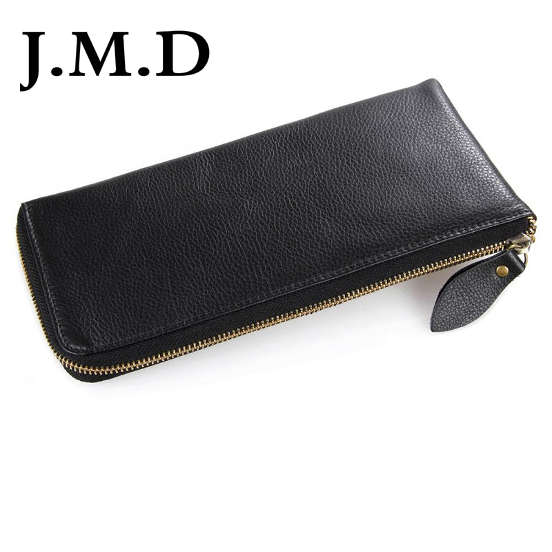 J M D 2017 New Leather Hand Bag Leather Wallet Clutch Long Slim Design 12 Card