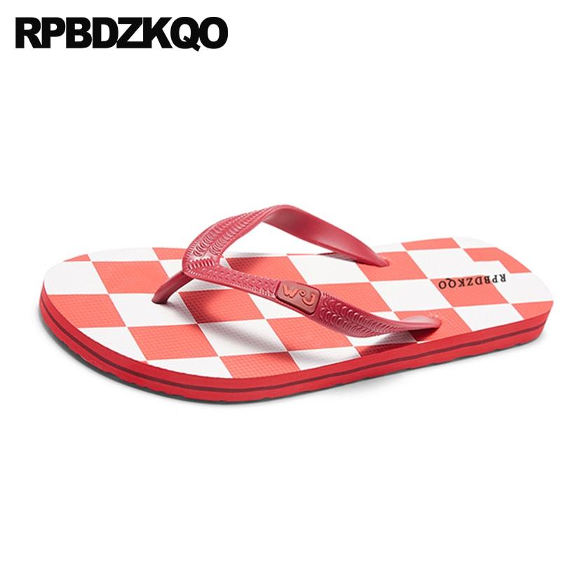 Sandálias À Borracha Vermelho Azul Dedo Sapatos De Praia Prova Grande 45 Livre Ar verde vermelho Verão Casual Moda Chinelos Slides Dos Homens Tamanho Ao Chinelo D'água amarelo 2018 qSfwn