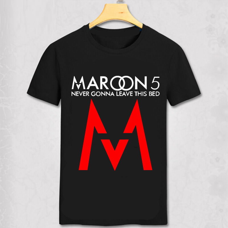 new summer style maroon 5 men t shirt maroon5 rock music. Black Bedroom Furniture Sets. Home Design Ideas